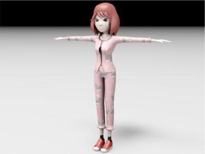 Girl Model 3D